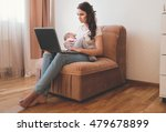 beautiful young mother working... | Shutterstock . vector #479678899