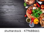 vegetables and spices... | Shutterstock . vector #479688661