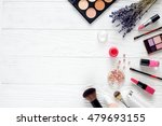 makeup set on white table with... | Shutterstock . vector #479693155