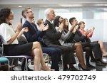 audience applauding speaker... | Shutterstock . vector #479702749