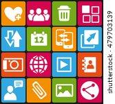 set of 16 web and social media... | Shutterstock . vector #479703139