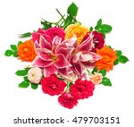 beautiful bouquet of roses and... | Shutterstock . vector #479703151