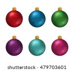 Set Of Colorful Christmas Ball...
