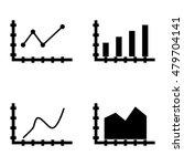 set of statistics icons on bar...
