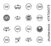 set of angle 360 degrees sign...   Shutterstock .eps vector #479704375
