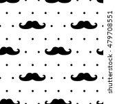 seamless mustache pattern on... | Shutterstock .eps vector #479708551