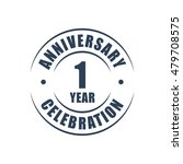 1 year anniversary celebration... | Shutterstock .eps vector #479708575
