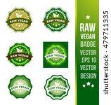 raw vegan badge label seal... | Shutterstock .eps vector #479711335