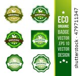 organic badge label seal stamp... | Shutterstock .eps vector #479711347