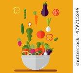 fresh vegetables salad vector... | Shutterstock .eps vector #479715349