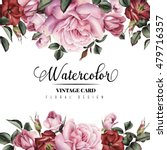 greeting card with flowers ... | Shutterstock . vector #479716357