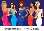 glamorous lady cocktail  girl... | Shutterstock .eps vector #479725381