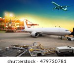 cargo plane loading in airport... | Shutterstock . vector #479730781