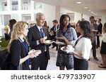 Delegates Networking During...