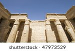 """The ancient temple """"Medinat Habu"""" in """"Luxor"""" in Egypt - stock photo"""