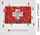 large group of people in the... | Shutterstock .eps vector #479736805