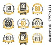 set of vintage anniversary...   Shutterstock .eps vector #479746351