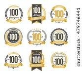 set of vintage anniversary...   Shutterstock .eps vector #479746441