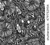 vector seamless black and white ... | Shutterstock .eps vector #479752954