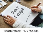 don't forget notice reminder... | Shutterstock . vector #479756431