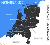 netherlands map   vector... | Shutterstock .eps vector #479759401