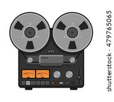 vintage analog stereo reel deck ... | Shutterstock .eps vector #479765065