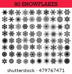 vector snowflakes isolated set. ... | Shutterstock .eps vector #479767471