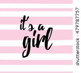 baby shower card   Shutterstock .eps vector #479787757