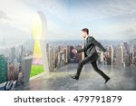 businessman in city running... | Shutterstock . vector #479791879