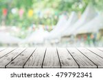 empty wooden table with party... | Shutterstock . vector #479792341