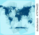 polygon world map with paper...   Shutterstock .eps vector #479794435