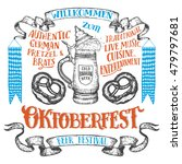oktoberfest hand drawn set.... | Shutterstock .eps vector #479797681