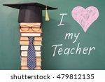 i love my teacher  funny... | Shutterstock . vector #479812135