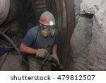 miner in a respirator with a... | Shutterstock . vector #479812507