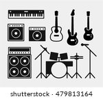 music rock band instruments set ... | Shutterstock .eps vector #479813164