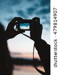 man taking photos of the sky | Shutterstock . vector #479814907