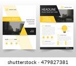 yellow black business brochure...   Shutterstock .eps vector #479827381