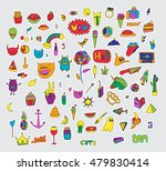 vector set of patches and... | Shutterstock .eps vector #479830414