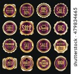 golden retro vintage labels... | Shutterstock .eps vector #479834665
