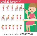 diverse set of little girl on... | Shutterstock .eps vector #479837344
