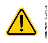 hazard warning attention sign... | Shutterstock .eps vector #479841637