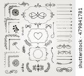 set of black hand drawn doodle... | Shutterstock .eps vector #479841781