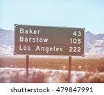 California Road Sign Los...
