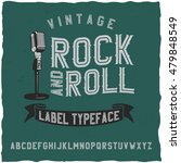 rock and roll label font. good... | Shutterstock .eps vector #479848549
