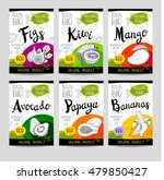 set of colorful stickers in... | Shutterstock .eps vector #479850427