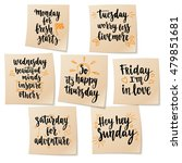week days motivation quotes.... | Shutterstock .eps vector #479851681