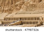 """The ancient temple """"Hatchepsut"""" near """"Luxor"""" in Egypt - stock photo"""