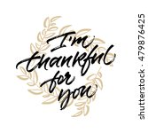 thanksgiving greeting card i'm... | Shutterstock .eps vector #479876425