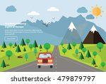 colourful vector flat banner... | Shutterstock .eps vector #479879797