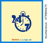 open 24 7 icon with clock | Shutterstock .eps vector #479884675